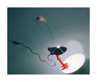 Настольная лампа  Ingo Maurer Bibibibi 1010000  Белый, красный (пр-во Германия)