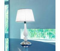 Настольная лампа Sylcom 1422/35 K BL.CR + TOP 1422/35 ARG  Хром, молочно-белый (пр-во Италия)