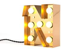 Декоративная буква с подсветкой  Seletti Caractere 01402_N  Золотистый (пр-во Италия)