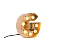 Декоративная буква с подсветкой  Seletti Caractere 01402_G  Золотистый (пр-во Италия)