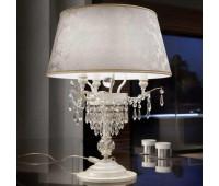 Настольная лампа Masiero Glasse TL3 V13 Avorio e oro (ex P01)  Цвета слоновой кости с нанесенным кистью бледно-золотым цветом p01 (пр-во Италия)