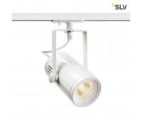 1PHASE-TRACK, EURO SPOT LED SMALL светильник 11Вт с LED 3000К, 650лм, 36°, белый SLV 1001486  (пр-во Германия)