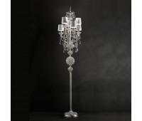 Торшер  Masiero Luxury Silver Imperial/STL6 Swarowski Elements  Серебро, прозрачный (пр-во Италия)