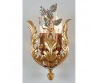 Бра   Epoca Lampadari 1354/A2 dec. 722  Серебряная фольга , золотая фольга (пр-во Италия)