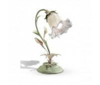 Настольная лампа Renzo Del Ventisette LVP 13461/1 DEC. 019 + ORO  Зеленый шалфей + розовый + золото (пр-во Италия)