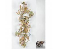 Люстра   Epoca Lampadari 1432/A4 dec. 517 multicolor crystal  Зеленый, светлый, золотисто-серебряный (пр-во Италия)