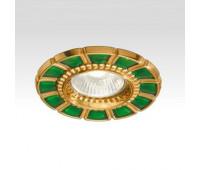 Точечный светильник  Arizzi 632  Состаренное французское золото, зеленый (пр-во Италия)