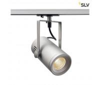 1PHASE-TRACK, EURO SPOT LED SMALL светильник 11Вт с LED 3000К, 650лм, 36°, серебристый SLV 1001487  (пр-во Германия)