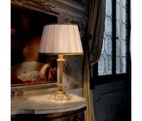 Настольная лампа Sylcom 1476 PO CR.ORO + TOP 1422/35 ORO  Золото, прозрачный (пр-во Италия)