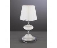 Настольная лампа Paderno Luce T 20211/1.02 WHITE GLASS  Хром, белый (пр-во Италия)
