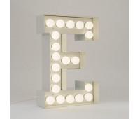 Декоративная буква с подсветкой  Seletti Vegaz 01408_E  Белый (пр-во Италия)