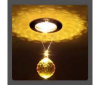 Точечный светильник Kantarel CD 001.3.10 lt. topaz  Золотой (пр-во Россия)