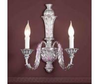 Бра  Passeri  A. 8265/2 Dec. 095+Viola  Серебряная фольга , фиолетовый (пр-во Италия)