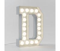 Декоративная буква с подсветкой  Seletti Vegaz 01408_D  Белый (пр-во Италия)