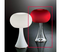 Лампа настольная IDL 9016/1TLM satin red  Хром,никель,прозрачный (пр-во Италия)