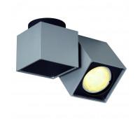 ALTRA DICE SPOT 1 светильник накладной для лампы GU10 50Вт макс., серебристый / черный SLV 151524  (пр-во Германия)
