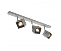 ALTRA DICE 3 светильник накладной для 3х ламп GU10 по 50Вт макс., серебристый/ черный SLV 151184  (пр-во Германия)