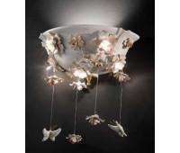 Настенный светильник Linea Botticelli  Lorenzon LA.30/2/BS/R/5F  Белый, кремовый, золотой (пр-во Италия)