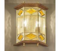 Настенный светильник  Cremasco 3020/2AP-NO.BR.cg  Бронза, орех (пр-во Италия)