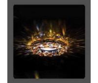 Точечный светильник Kantarel CD 028.3.1AB/7 crystal AB/topaz  Золотой (пр-во Россия)