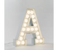 Декоративная буква с подсветкой  Seletti Vegaz 01408_A  Белый (пр-во Италия)