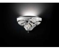 Настенный светильник Regina della Notte  Lorenzon LA.12/BPL  Белый, платиновый (пр-во Италия)