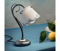 Настольная лампа Ferroluce C922 LU  Черное серебро (пр-во Италия)