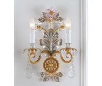 Бра   Epoca Lampadari 1418/A2 dec. 722 pink crystal  Античная, серебряная фольга и золотая фольга (пр-во Италия)