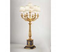 Настольная лампа  Arizzi 2103/7/L  Состаренное французское золото, черный матовый (пр-во Италия)