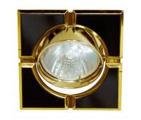 Встраиваемый светильник Feron 098T-S  Черный, золото (пр-во Китай)