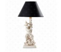 Настольная лампа  Roberto Giovannini 678 G006 End XVIII C. Chinoiserie English  Белый прованс (пр-во Италия)