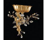 Бра   Epoca Lampadari 1393/A1 dec. 722 smoke crystal  Античная, золотая фольга, серебряная фольга (пр-во Италия)