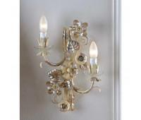 Бра   Epoca Lampadari 1438/A2 dec. 401 smoke crystal  Светлый, серебряная фольга (пр-во Италия)