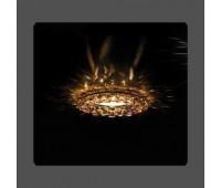 Точечный светильник Kantarel CD 028.3.16 crystal golden shadow  Золотой (пр-во Россия)