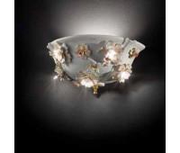 Настенный светильник Linea Botticelli  Lorenzon LA.30/BS/R/5F  Белый, кремовый, золотой (пр-во Италия)