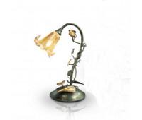 Настольная лампа Renzo Del Ventisette LVP 13952/1 DEC. 0121  Золотая фольга + коричневый (пр-во Италия)