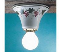 Накладной светильник Ferroluce C133 PL  Белый с рисунком (пр-во Италия)