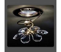 Точечный светильник Kantarel CD 015.3.1.1 crystal  Золотой (пр-во Россия)