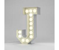 Декоративная буква с подсветкой  Seletti Vegaz 01408_J  Белый (пр-во Италия)