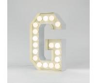 Декоративная буква с подсветкой  Seletti Vegaz 01408_G  Белый (пр-во Италия)
