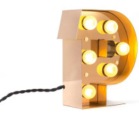 Декоративная буква с подсветкой  Seletti 01402_P  Золотистый (пр-во Италия)