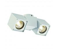 ALTRA DICE SPOT 2 светильник накладной для 2-x ламп GU10 по 50Вт макс., белый SLV 151531  (пр-во Германия)