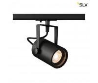 1PHASE-TRACK, EURO SPOT GU10 светильник для лампы GU10 25Вт макс., черный SLV 1001861  (пр-во Германия)