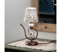 Настольная лампа Ferroluce C1221 LU  Черная медь, белый (пр-во Италия)