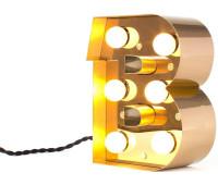 Декоративная буква с подсветкой  Seletti Caractere 01402_B  Золотистый (пр-во Италия)