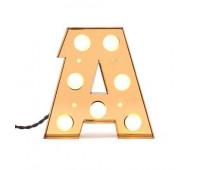 Декоративная буква с подсветкой  Seletti Caractere 01402_A  Золотистый (пр-во Италия)