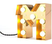 Декоративная буква с подсветкой  Seletti Caractere 01402_M  Золотистый (пр-во Италия)