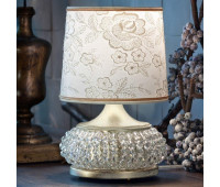 Настольная лампа Masiero Gala TL1 P V13 Avorio e oro (ex P01)  Цвета слоновой кости с нанесенным кистью бледно-золотым цветом (пр-во Италия)