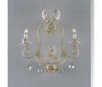Бра   Epoca Lampadari 1450/A2 dec. 452  Белый, золотая фольга, янтарный (пр-во Италия)