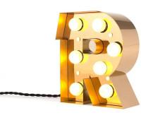 Декоративная буква с подсветкой  Seletti Caractere 01402_R  Золотистый (пр-во Италия)